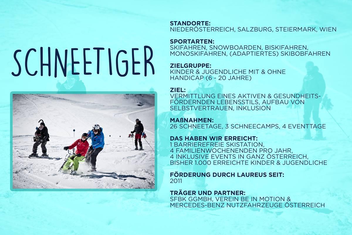 Laureus soziales Sportprojekt Österreich - Schneetiger