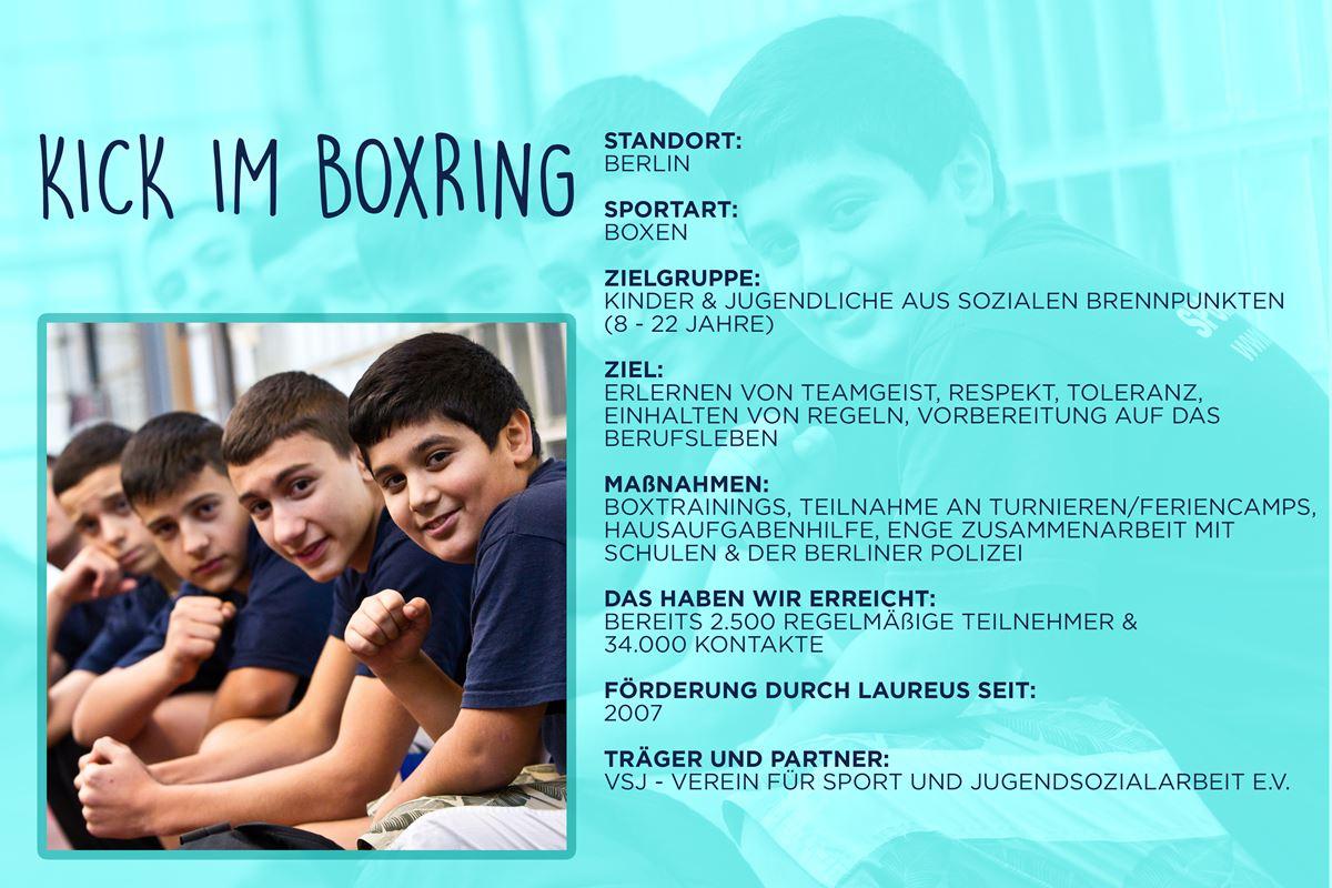 Laureus soziales Sportprojekt Berlin - KICK im Boxring