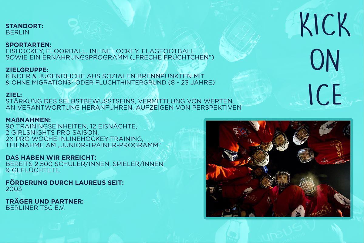 Laureus soziales Sportprojekt Berlin - KICK on Ice
