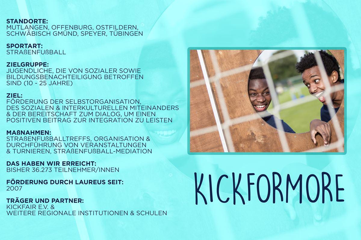 Laureus soziales Sportprojekt Deutschland - KICKFORMORE