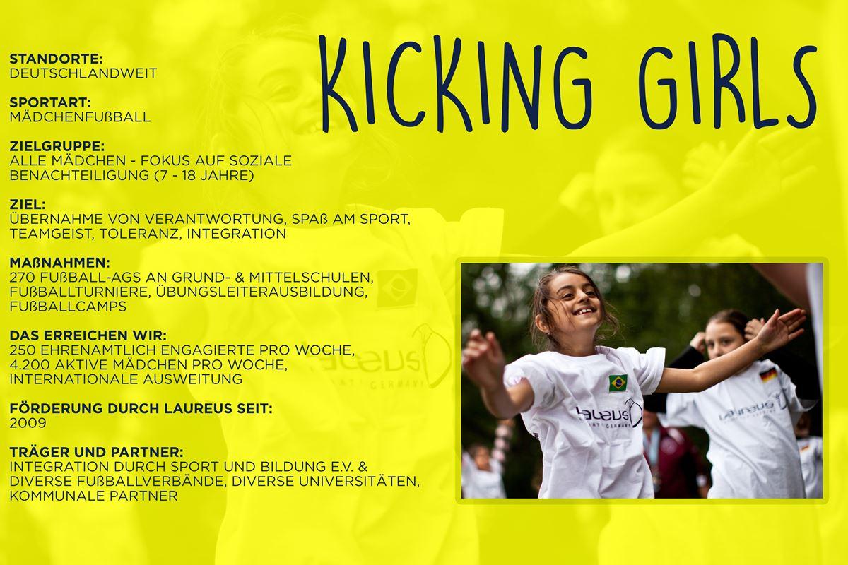 Laureus soziales Sportprojekt Deutschland - Kicking Girls