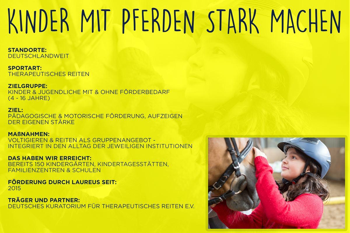 Laureus soziales Sportprojekt Deutschland - Kinder mit Pferden stark machen