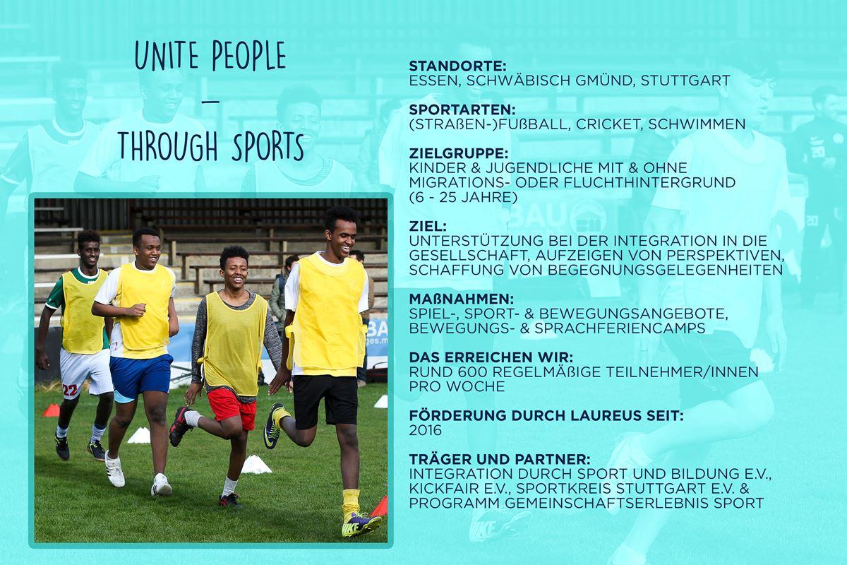 Laureus soziales Sportprojekt Deutschland - unite people