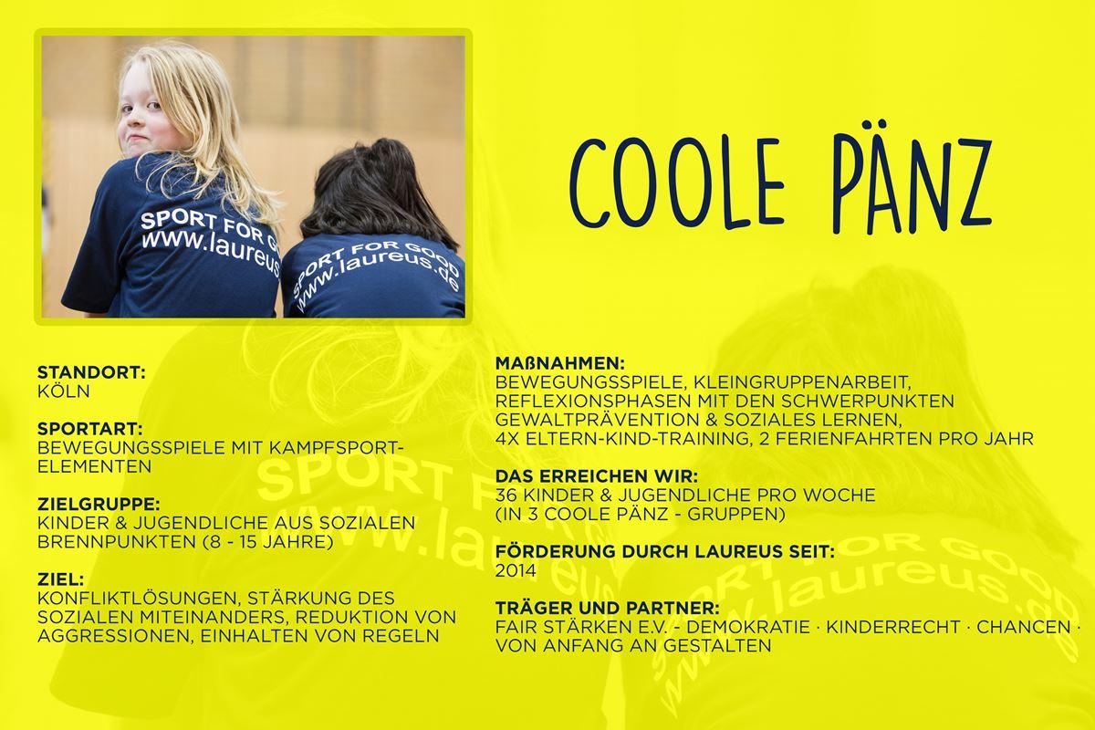 Laureus soziales Sportprojekt Köln - coole pänz