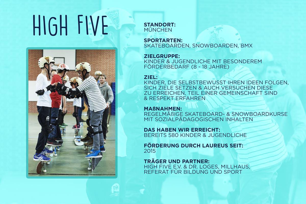 Laureus soziales Sportprojekt München - HIGH FIVE
