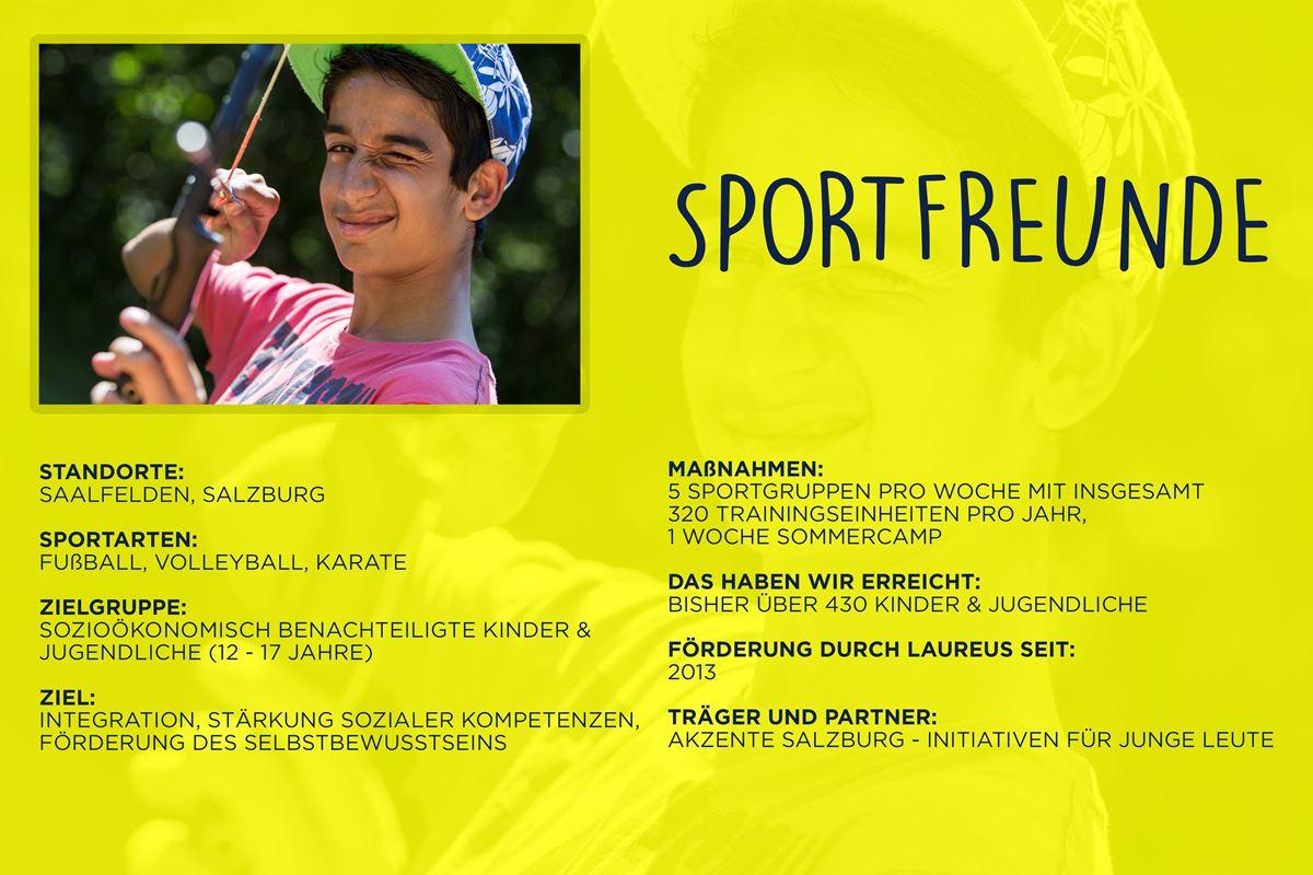 Laureus soziales Sportprojekt Salzburg, Saalfelden - SportFreunde