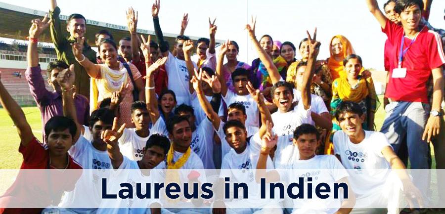 Laureus Sport in Indien - Soziales Sportprojekt IMAGE Cricket Match