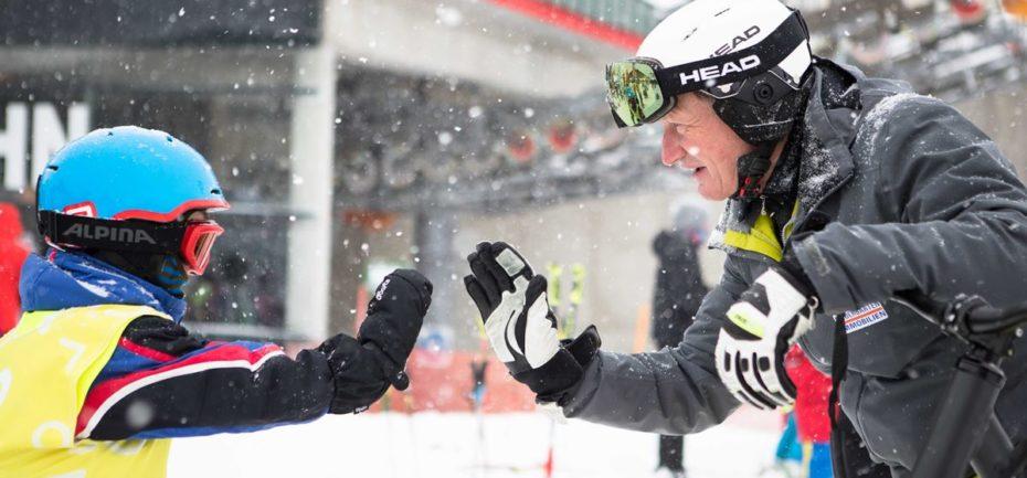 Snow Jam mit Franz Klammer und Markus Salcher - soziale Sportprojekte Wiffzack und Schneetiger