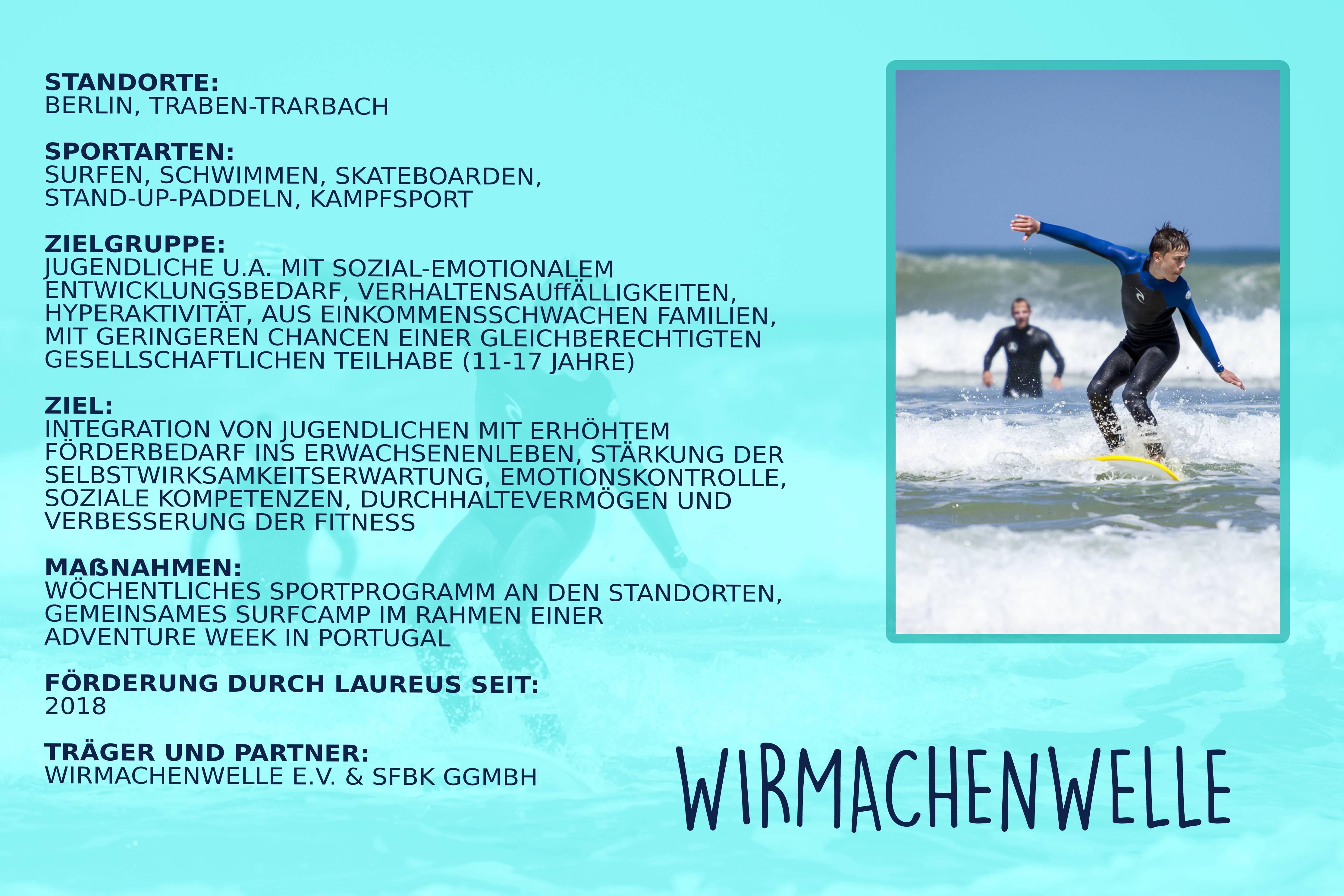 Laureus soziales Sportprojekt Berlin, Hamburg, Nürnberg, Traben-Trarbach - wirmachenwelle